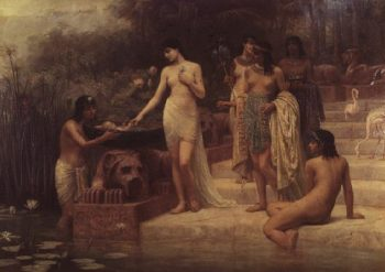 Pharaoh's Daughter The Finding of Moses 1886 | Edwin Longsden Long | oil painting