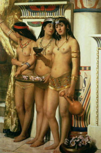 Pharaoh's Handmaidens | John Collier | oil painting