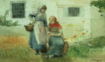 Picking Flowers 1881 | Winslow Homer | oil painting