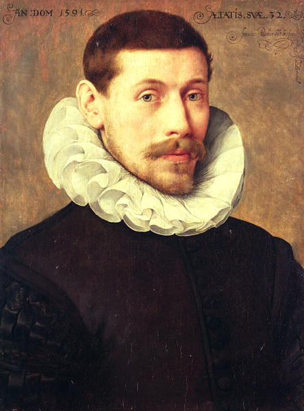 Portrait of a Man aged 32 1591 | Frans II Pourbus | oil painting