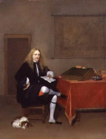 Portrait of a Man in his Study 1668 69 | Gerard ter Borch or Terborch | oil painting