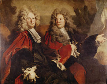 Portrait of Alderman Hugues Desnots and Alderman Bouhet elected in 1702 | Nicolas de Largilliere | oil painting