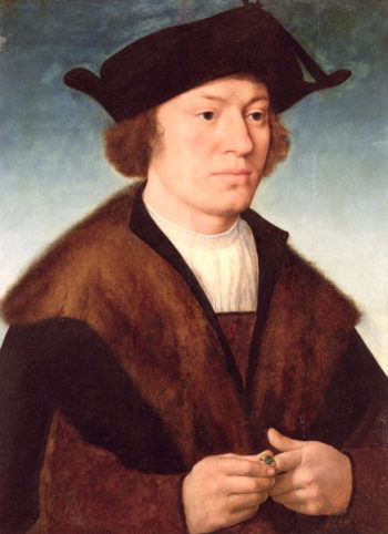 Portrait of an Unknown Man 1520   Joos van Cleve   oil painting