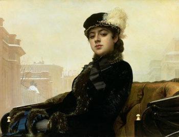 Portrait of an Unknown Woman 1883 | Ivan Nikolaevich Kramskoy | oil painting