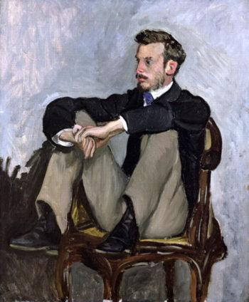 Portrait of Auguste Renoir | Jean Frederic Bazille | oil painting