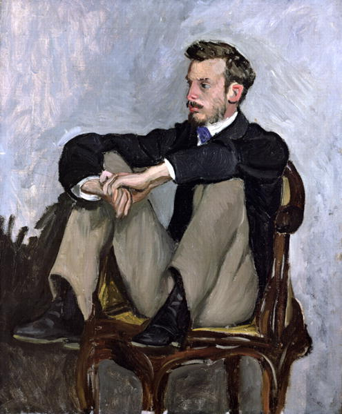 Portrait of Auguste Renoir | Jean Frederic Bazille | oil painting