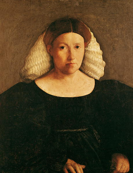 Portrait of a Woman with a White Hairnet | Dosso Dossi | oil painting