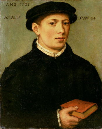 Portrait of a Young Man 1528 | Bartholomaeus Bruyn | oil painting