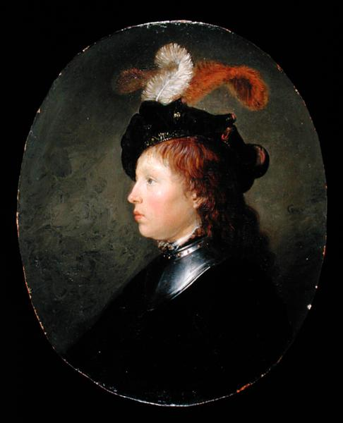 Portrait of a Young Man 1663 | Gerrit or Gerard Dou | oil painting