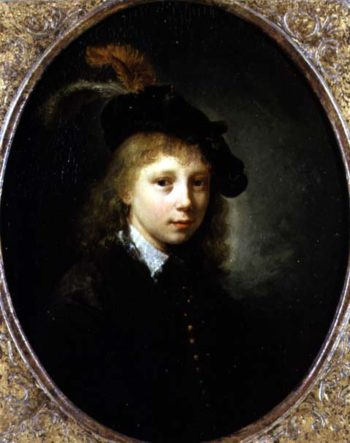 Portrait of a Young Man | Gerrit or Gerard Dou | oil painting