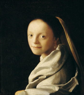 Portrait of a Young Woman 1663 65   Jan Vermeer   oil painting