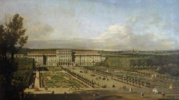 Schonbrunn Palace and gardens 1759 61 | Bernardo Bellotto | oil painting