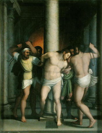 Scourging of Christ at the Pillar | Sebastiano del Piombo | oil painting