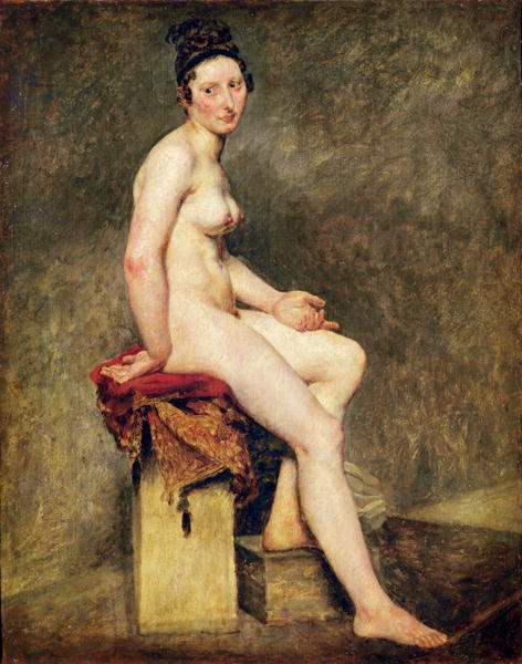 Seated Nude Mademoiselle Rose | Eugene Delacroix | oil painting