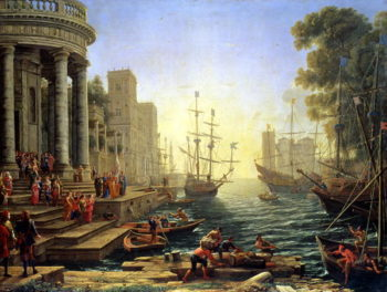 Seaport with the Embarkation of St Ursula | Claude Lorrain | oil painting