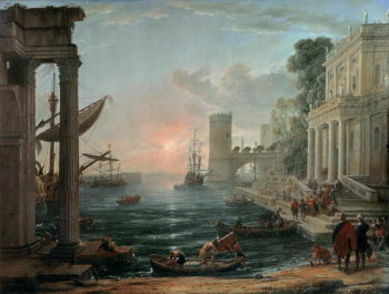 Seaport with the Embarkation of the Queen of Sheba 1648 | Claude Lorrain | oil painting