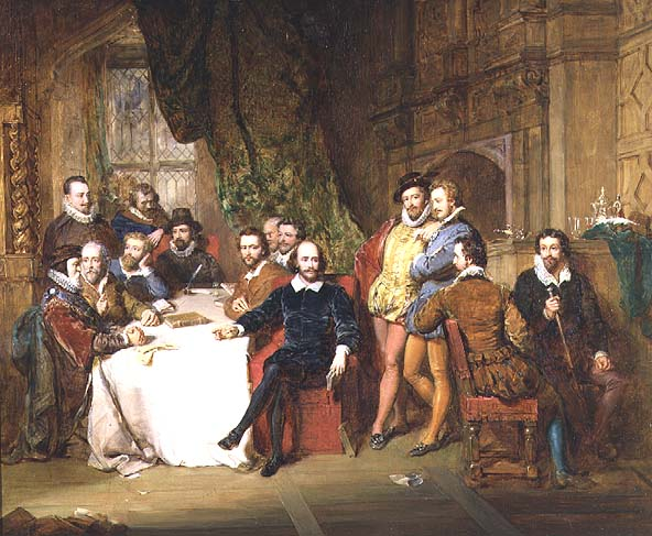 Shakespeare and his Friends   John Faed   oil painting