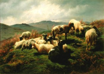 Sheep in the Highlands 1856 | Rosa Bonheur | oil painting