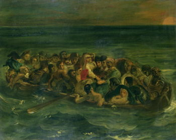 Sketch for The Shipwreck of Don Juan 1839 | Delacroix | oil painting