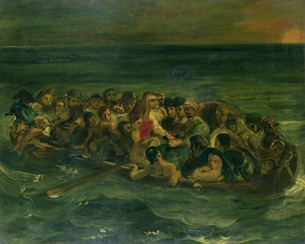 Sketch for The Shipwreck of Don Juan 1839   Delacroix   oil painting