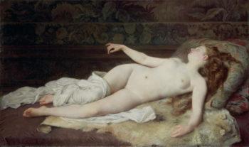 Sleep 1873 | Louis Joseph Raphael Collin | oil painting