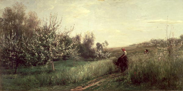 Spring 1857   Charles Francois Daubigny   oil painting