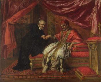 St Filippo Neri Curing Pope Clemente VIII   Pietro da Cortona   oil painting