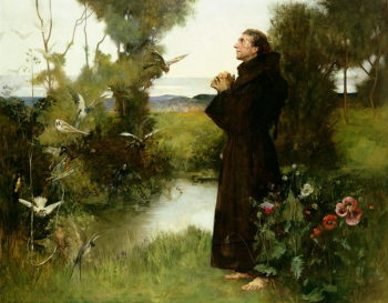 St Francis 1898 | Albert Chevallier Tayler | oil painting