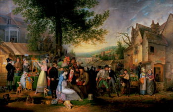 St James's Fair Bristol 1824 | Samuel Colman | oil painting