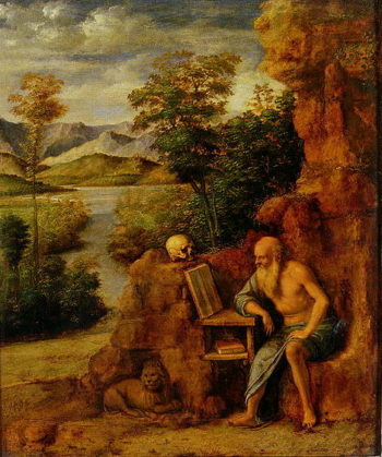 St Jerome 1500 | Giovanni Battista Cima da Conegliano | oil painting