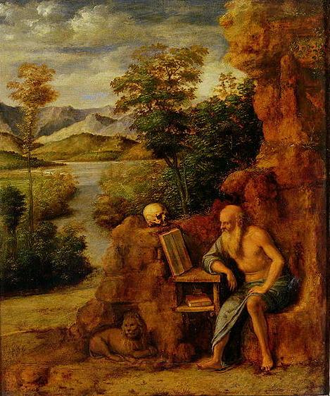 St Jerome 1500 | Giovanni Battista Cima da Conegliano | oil painting