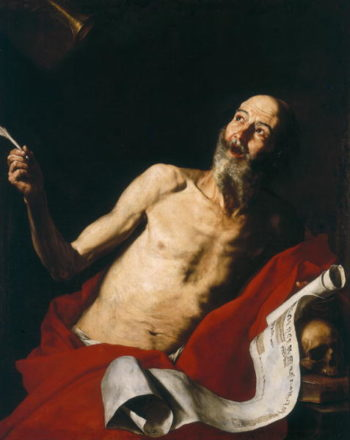St Jerome and the Trumpet of Doom 1637 | Jusepe de Ribera | oil painting