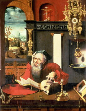 St Jerome in his Study | Pieter Coecke van Aelst | oil painting