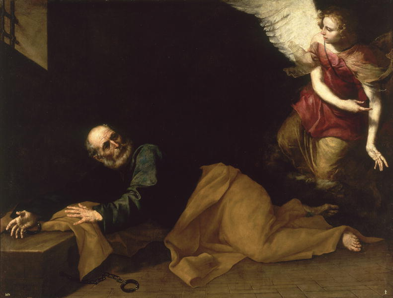 St Peter Freed by an Angel 1639 | Jusepe de Ribera | oil painting