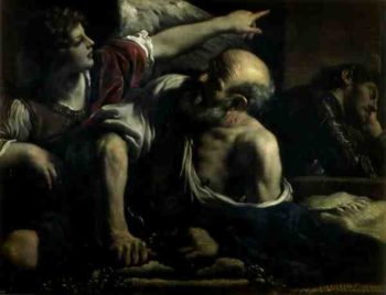 St Peter Freed by an Angel | Guercino | oil painting