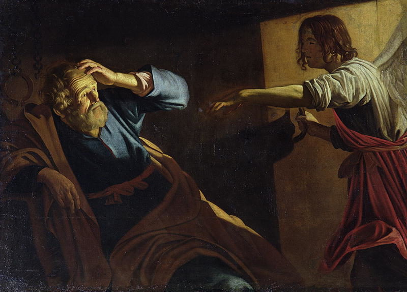 St Peter Released from Prison | Gerrit van Honthorst | oil painting
