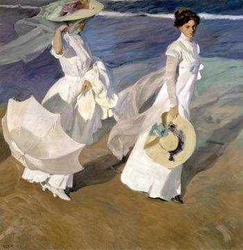 Strolling along the Seashore 1909   Joaquin Sorolla y Bastida   oil painting