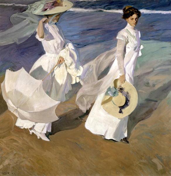 Strolling along the Seashore 1909 | Joaquin Sorolla y Bastida | oil painting
