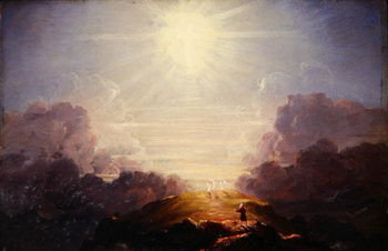 Study for the Cross and the World 1846 | Thomas Cole | oil painting