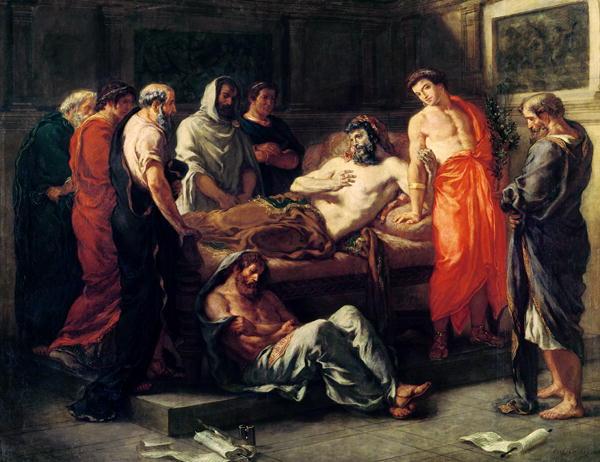 Study for The Death of Marcus Aureliut | Delacroix | oil painting