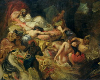 Study for The Death of Sardanapalus before 1827 | Delacroix | oil painting