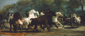 Study for the Horsemarket 1900 | Rosa Bonheur | oil painting