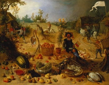 An Allegory of Autumn | Sebastian Vrancx | oil painting