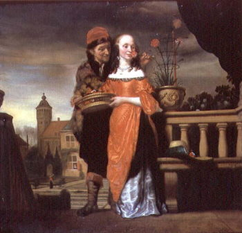 An Allegory of the Sense of Smell   Nicolaes Maes   oil painting