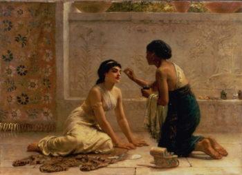 An Ancient Custom | Edwin Longsden Long | oil painting