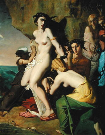 Andromeda Tied to the Rock by the Nereids 1840   Theodore Chasseriau   oil painting