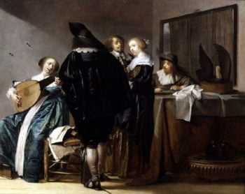 An Elegant Company in an Interior | Pieter Codde | oil painting