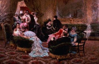 An Entertaining Evening | Egisto Lancerotto | oil painting