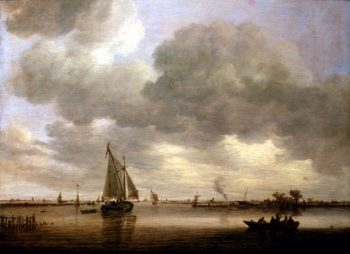 An Estuary with Boats | Jan Josephsz van Goyen | oil painting