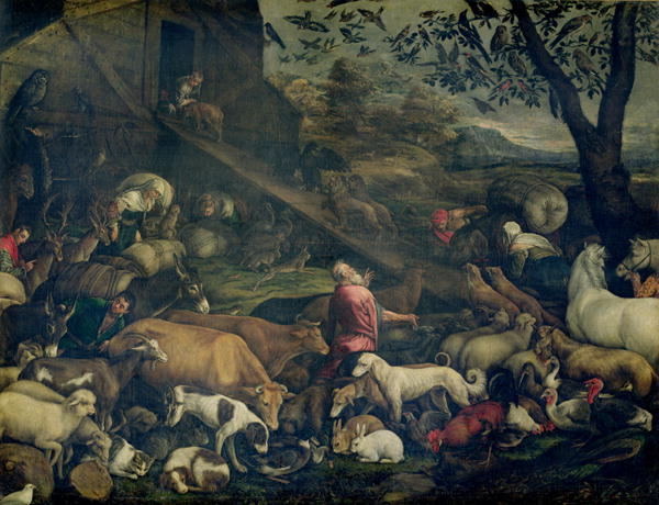 Animals Entering the Ark | Jacopo Bassano | oil painting